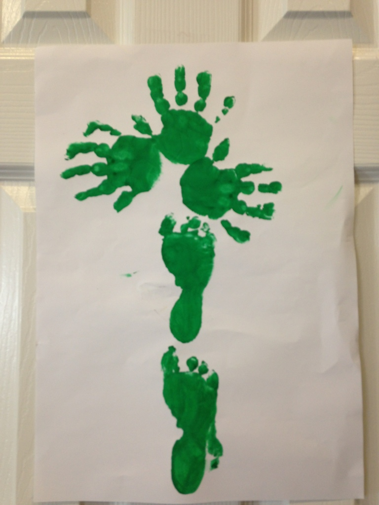 Hand & Footprint Shamrock