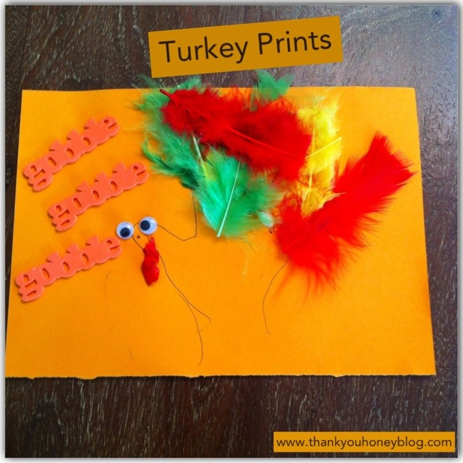 Easy Thanksgiving Turkey Handprints with Feathers Kids Craft.
