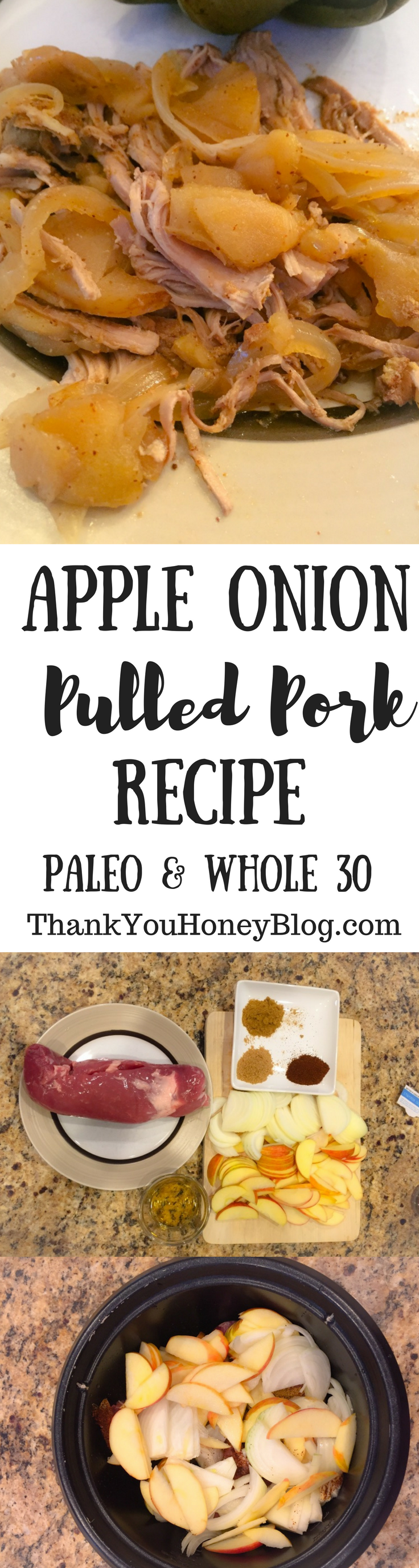 Apple Onion Pulled Pork Recipe Paleo, Whole 30