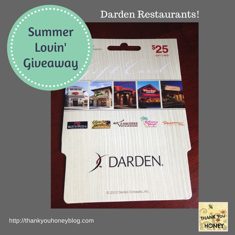 Summer lovin 39 giveaway 3 thank you honey - Olive garden gift card at red lobster ...