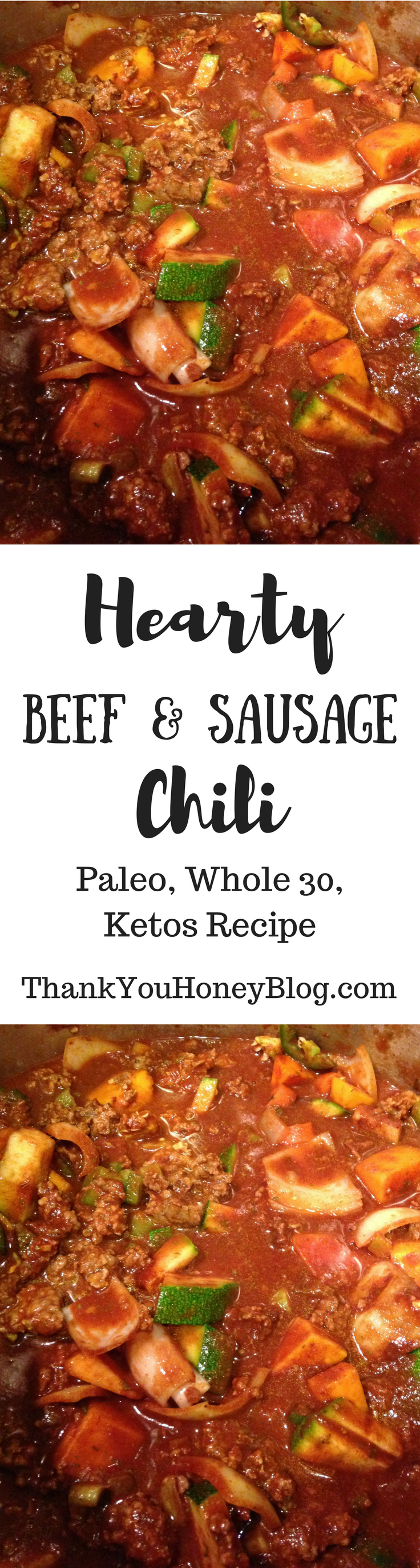 Hearty Beef & Sausage Chili