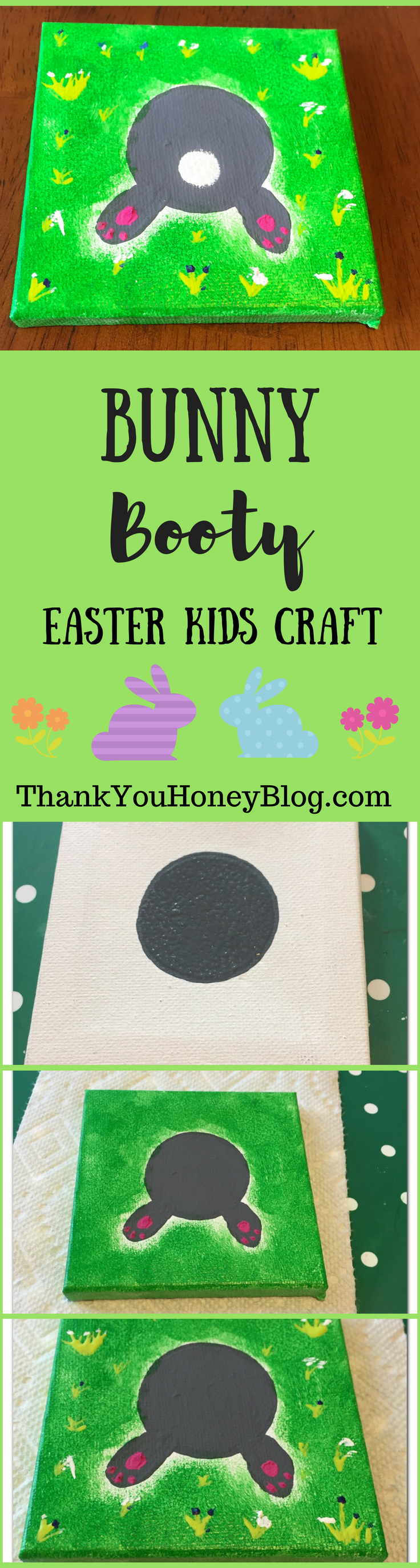 Bunny Booty Easter Kids Craft