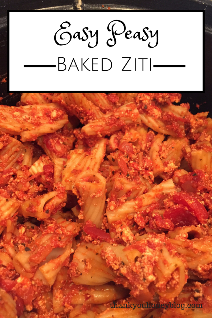 Easy Peasy Recipe, Baked Ziti, Slow Cooked, Italian, Baked Ziti