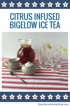 Citrus Infused Bigelow Ice Tea #myteatime #ad