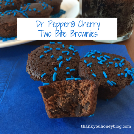 Dr Pepper® Cherry Two Bite Brownies #ShareFunshine #ad
