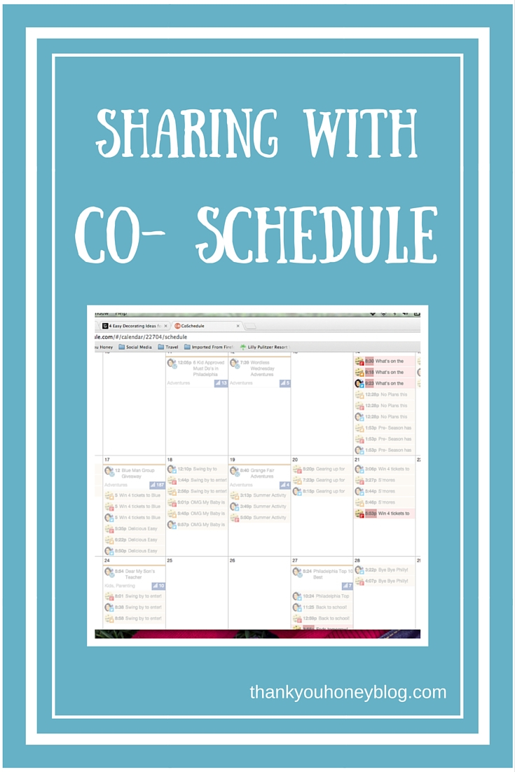 Sharing With Co- Schedule