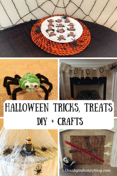 Halloween Tricks, Treats, DIY + Crafts