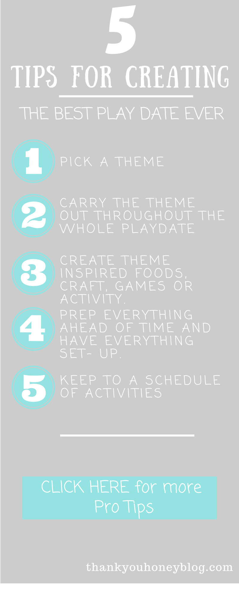 5 Tips for Creating the Best Play Date Ever Infographics