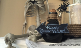 DIY Halloween Painted Bottle