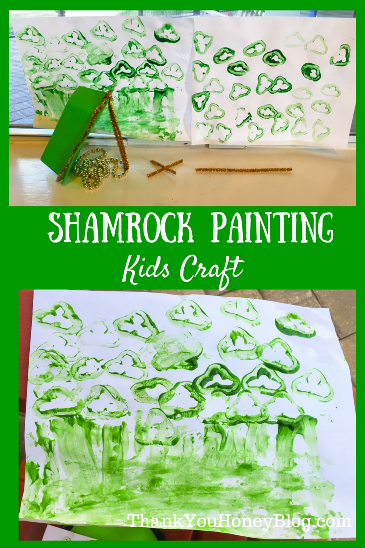Shamrock Painting Kids Craft, St. Patrick's Day Kids Crafts, Painting, St. Patrick's Day Kids Shamrock Craft, Shamrock Painting Kids Craft, Leprechaun, Kids Activities, Irish Legend, Craft, Clover, http://thankyouhoneyblog.com