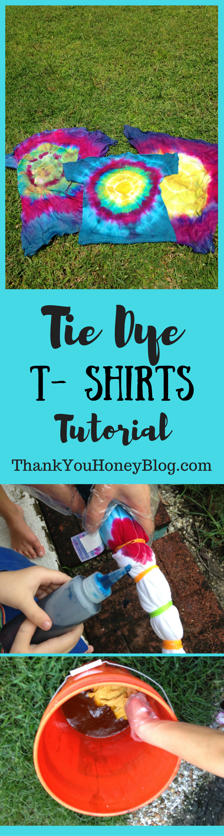 Tie Die T-Shirts Tutorial