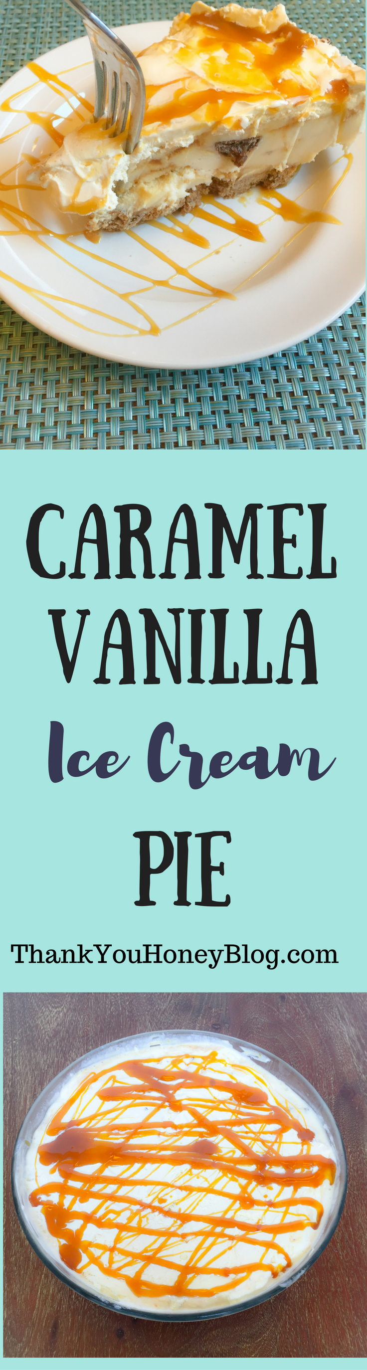 Caramel Vanilla Ice Cream Pie #MayfieldFamily {ad}