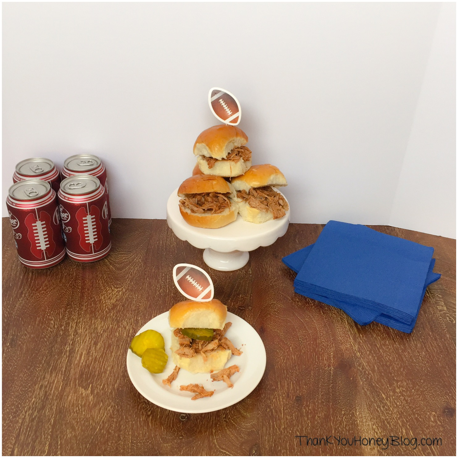 Pulled Pork Sliders Recipe #CollegeFootballChampSweeps #ad