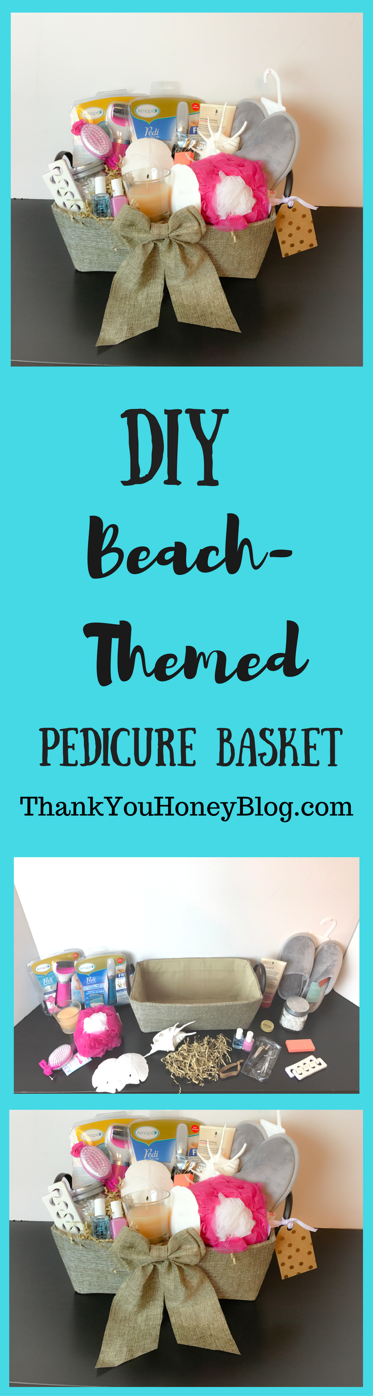 DIY Beach- Themed Pedicure Basket #AmopeForTheHoliday #ad