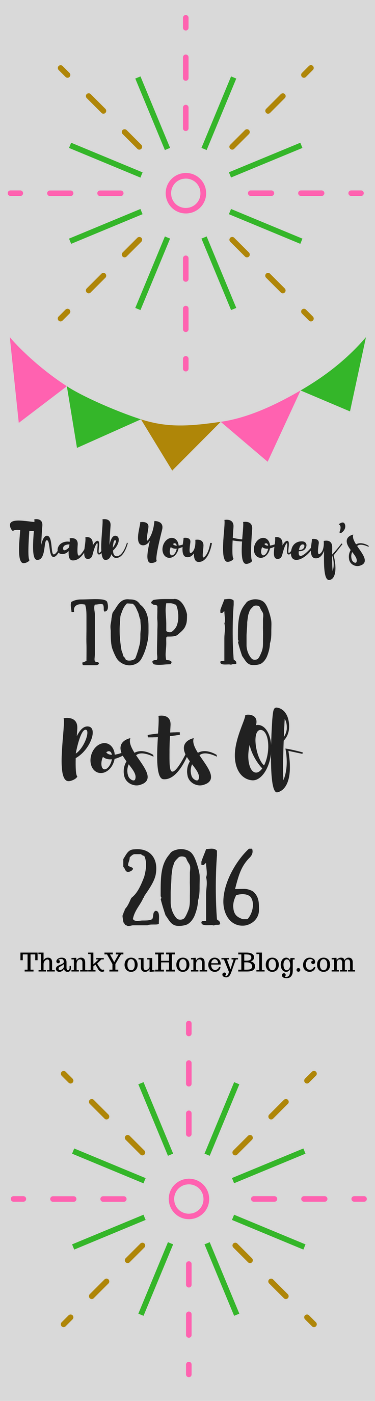 Thank You Honey's Top 10 Posts of 2016