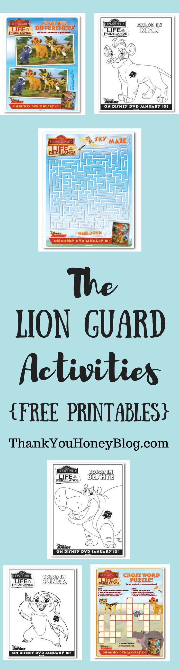 The Lion Guard Activities {Free Printables}