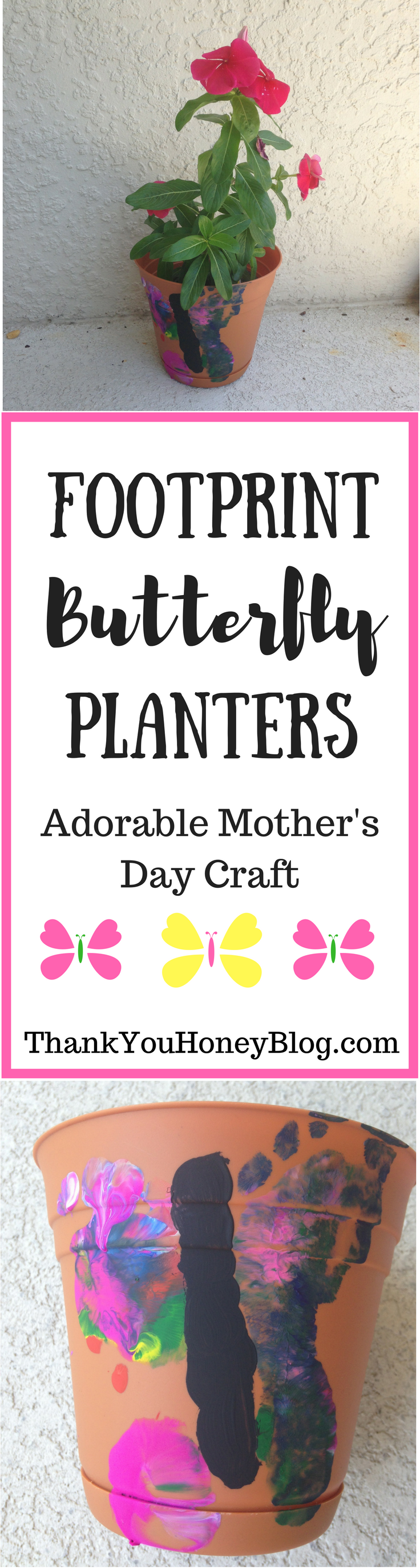 Footprint Butterfly Planters