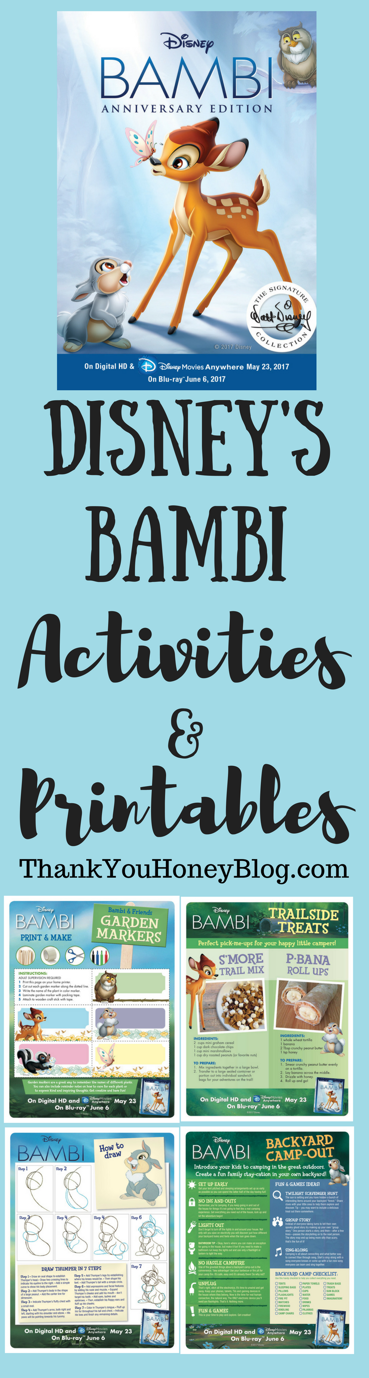 BAMBI Activities & Printables