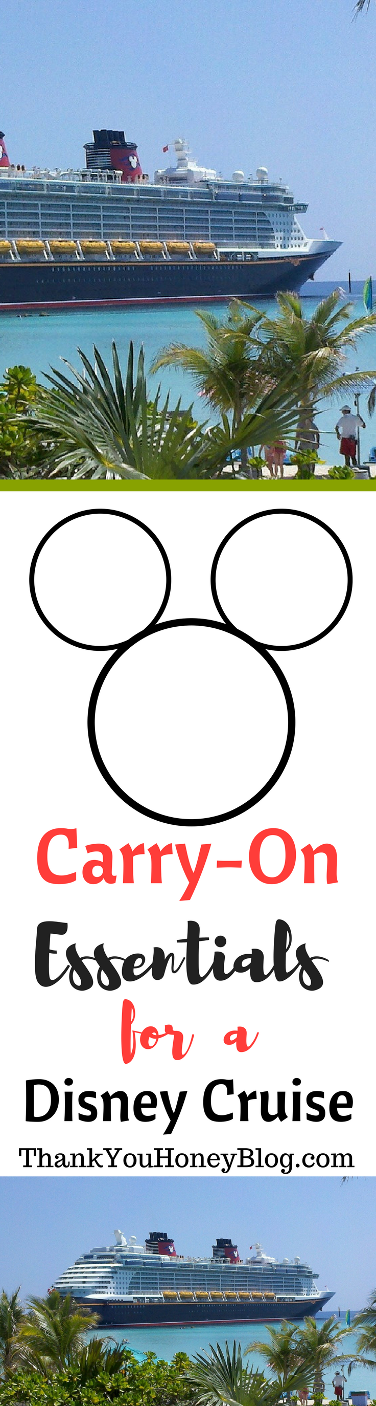 Carry- On Essentials for a Disney Cruise