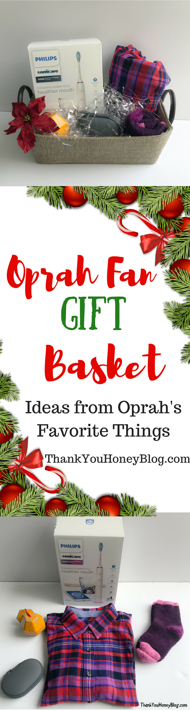 Oprah Fan Gift Basket #WorldsSmartestToothbrush #PhilipsSonicare #OprahsFavoriteThings #ad