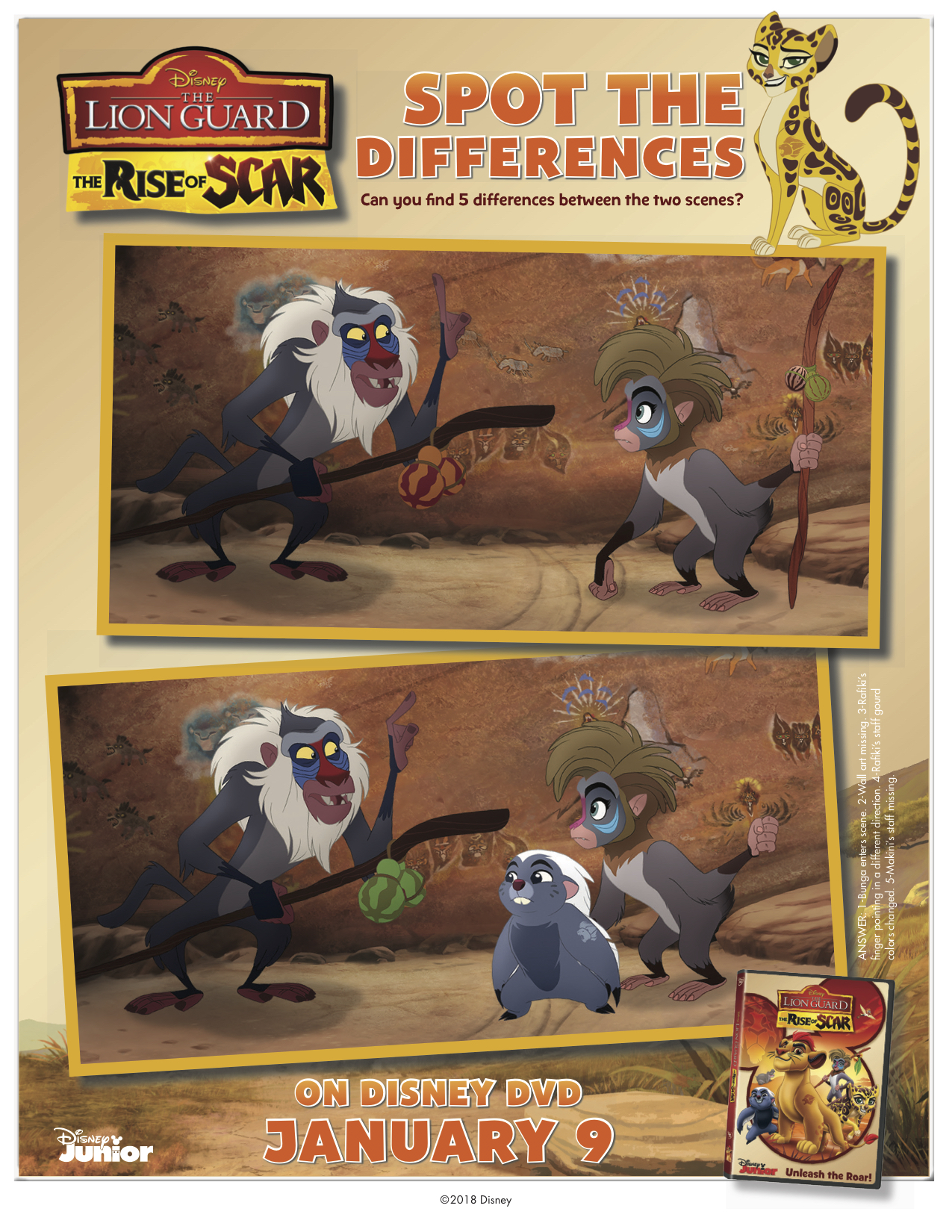 Disney The Lion Guard- The Rise of Scar Spot the Differences
